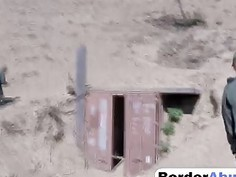 Mexican teen is in for a border patrol hardcore fuck experience