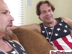 Patriotic dudes fuck each others daughters