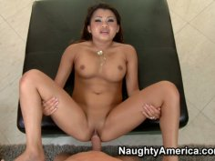 Hot pov scene with cuddly Asian babe Annie Lee.