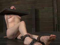Utmost BDSM game of disgraceful redhead bitch Maggie Mead
