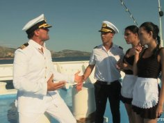 Blowjob on the boat with hotties Honey Demom and Abelia
