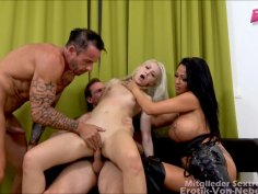 German Blonde Sub Licks Pussy and gets Ass Fucked