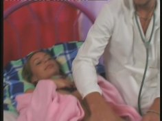 Horny doctor provides a full service for his sexy blonde patient