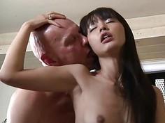 Cute Asian Student Old Teacher Fuck Cum Swallowing