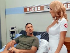 Nurse Savannah Bond gives blowjob to Keiran Lee in the hospital