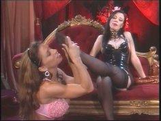 Devon Michaels and Anastasia Pierce having lesbian fun in BDSM style