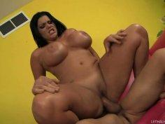 Bootylicious Angelina Castro rides a stiff Dick Delaware's dick