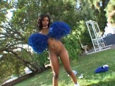 Sextractive cheerleader Amber Styles gets drilled in doggy style