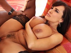 Sizzling Lisa Ann gets her pussy stuffed with hard cock