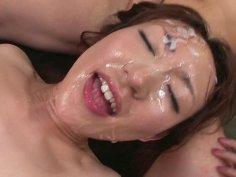 Uncensored JAV Myuu Bareback Bukkake Sex Party
