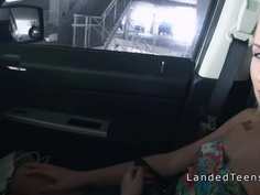Tattooed teen hitch banged in the car