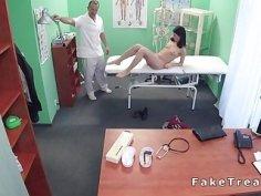 Slim patient bangs doctor in office