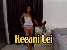 Keeani Lei swallows 8 cumshots and BTS
