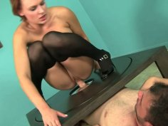 Sexy bitch Jamey James takes Ralph Long's prick for a ride
