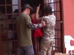 Horny African hookers pleasing throbbing cocks