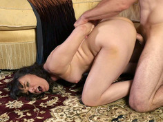 Horny MILF Dana DeArmond gets doggystyled on the floor